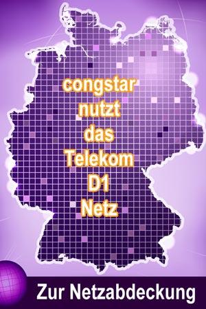 Welches Netz nutzt congstar? Das Telekom D1-Netz!