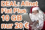 Nikolaus- / 2. Advent 2018 Deal: Allnet Flat Plus 10 GB für 20 € mtl.