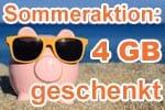 congstar Sommeraktion 2019 - Allnet Flat mit 4 GB extra Datenvolumen