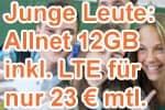 congstar Young / Junge Leute Vorteil - Allnet Flat Plus mit LTE