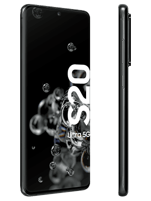 congstar - Samsung Galaxy S20 Ultra 5G (schwarz / seitlich)