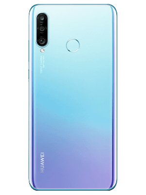 congstar - Huawei P30 lite New Edition - Breathing Crystal / weiß (hinten)