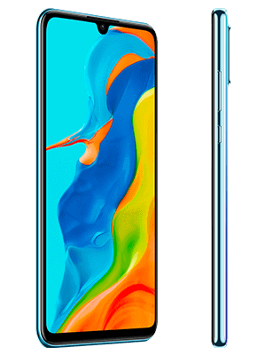 congstar - Huawei P30 lite New Edition - Breathing Crystal / weiß (seitlich)