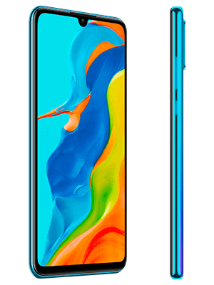 congstar - Huawei P30 lite New Edition - Peacock Blue / blau (seitlich)