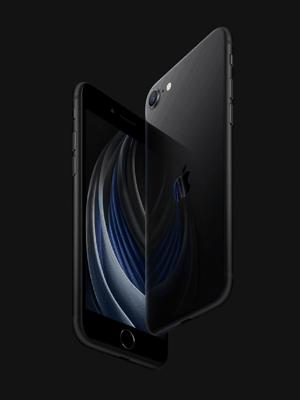 congstar - Apple iPhone SE - schwarz (seitlich)