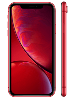 congstar - Apple iPhone XR - rot / product red (seitlich)