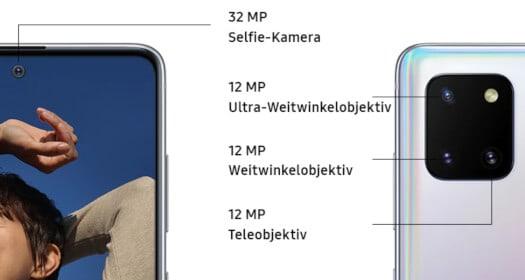 Kamera vom Samsung Galaxy Note 10 Lite