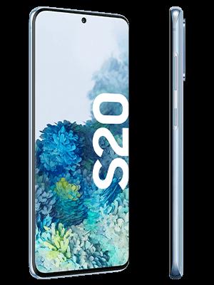 congstar - Samsung Galaxy S20 - blau (seitlich)