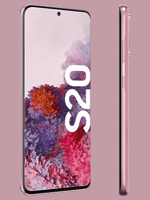 congstar - Samsung Galaxy S20 - pink (seitlich)