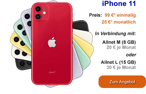 Apple iPhone 11 günstig bei congstar