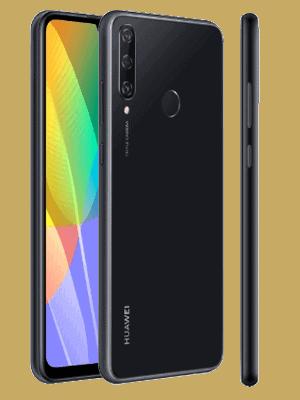 congstar - Huawei Y6p (schwarz / seitlich)