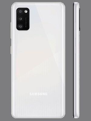 congstar - Samsung Galaxy A41 (weiß / hinten - seitlich)