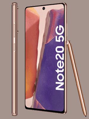 congstar - Samsung Galaxy Note20 5G (kupfer / seitlich)