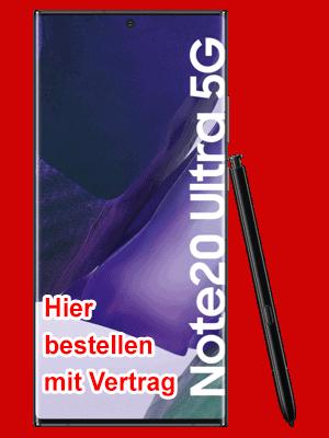 congstar - Samsung Galaxy Note20 Ultra 5G hier bestellen