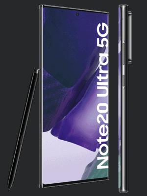 congstar - Samsung Galaxy Note20 Ultra 5G (schwarz / seitlich)