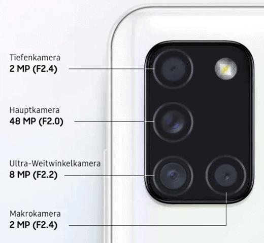 Kamera vom Samsung Galaxy A21s