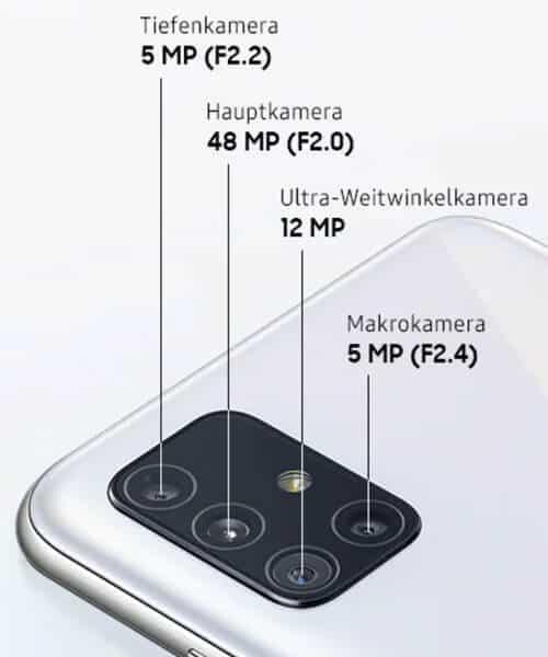 Kamera vom Samsung Galaxy A51