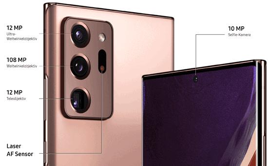 Kamera vom Samsung Galaxy Note20 Ultra 5G - Details