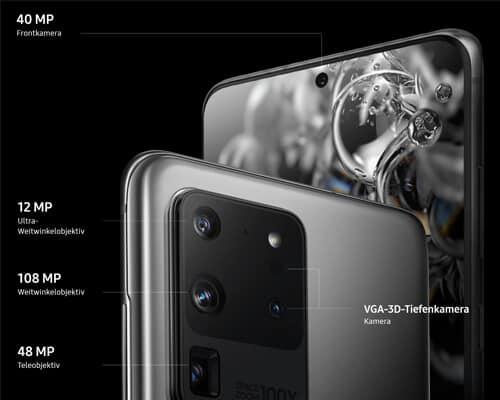 Kamera vom Samsung Galaxy S20 Ultra 5G - Details
