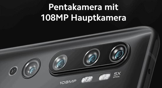 Kamera vom Xiaomi Mi Note 10 Pro