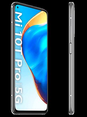congstar - Xiaomi Mi 10T Pro 5G - grau (lunar silver) / seitlich