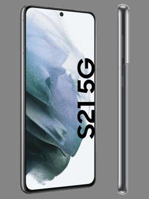 congstar - Samsung Galaxy S21 5G - grau / phantom gray (grey) - seitlich