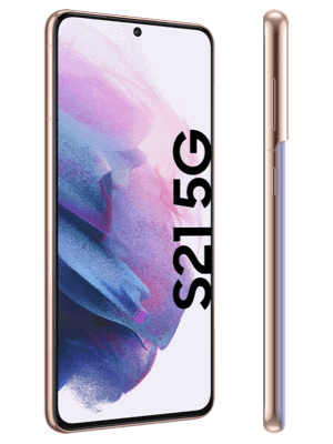 congstar - Samsung Galaxy S21 5G - phantom violet - seitlich