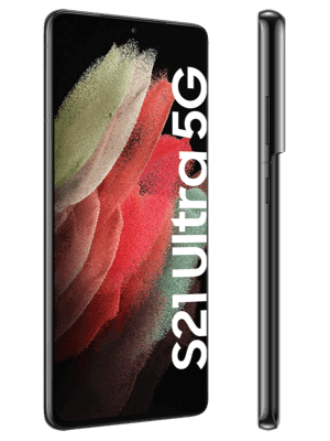 congstar - Samsung Galaxy S21 Ultra 5G - phantom black / schwarz - seitlich