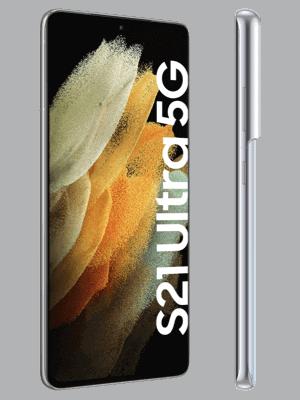 congstar - Samsung Galaxy S21 Ultra 5G - phantom silver / silber - seitlich