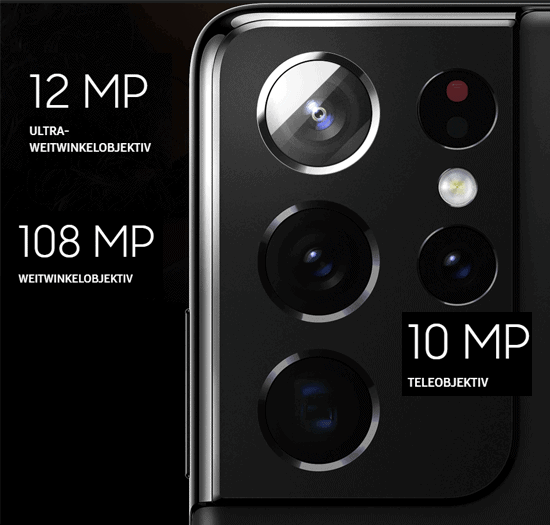 Kamera vom Samsung Galaxy S21 Ultra 5G